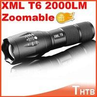 Wholesale UltraFire portable tactical lanterna waterproof CREE UltraFire E17 CREE XM L T6 Lumens Zoomable LED Flashlight Torch light