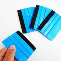 Wholesale Car Vinyl Film wrapping tools Blue color M Scraper squeegee with felt edge size cm cm