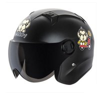 Wholesale ANDES B622 J ABS Style Open Face Motorbike Racing Casco Motorcycle Matt Black Monkey Helmet amp Lens Adult