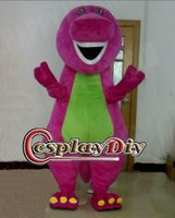 barney the dinosaur costume - Hot sale adult Barney Dinosaur mascot cartoon character costumes of the dinosaur mascot costume for Halloween and Christmas party