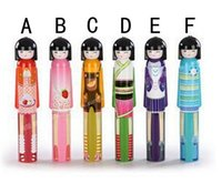 Wholesale 50pcs Cut Kokeshi Doll Umbrella Fashion Hot style Cartoon Folding Umbrella for Rain Factory Price DHL Free