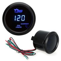 Wholesale Auto Car Motor Universal Digital Oil Pressure Meter Gauge with Sensor mm in LCD Indicator PSI Warning Light Black