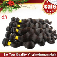 Brazilian Hair hair extensions - Brazilian Hair Virgin Human Hair Weaves Extensions Peruvian Malaysian Indian Cambodian Virgin Hair Body Wave Bundles Dyeable A Best Quality