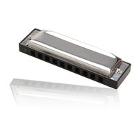 Wholesale New Silver Metal Harmonica Holes C Key Harmonica Children Mouth Organ Gift Toys Children Music Teaching BHU2
