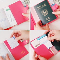 Wholesale Hot Bowknot Buckles Passport ID Card Holder Protect Cover Case Colors