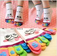 Wholesale cartoon Five fingers toe socks women s socks anti barbiers socks novelty socks promotion gift group