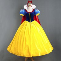adult princess dress - Sexy Adult Snow White Princess Fairy Tale Costume Halloween Cosplay Party Dress Gown Deluxe Custom made