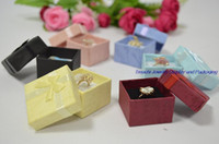 Wholesale 2016 New Arrival Real Favor Bag Multi Colors Jewelry Box Ring Earrings Box cm Packing Gift Jewellery Storage