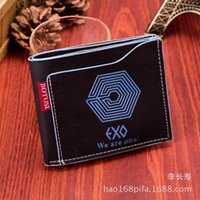 Wholesale Latest creative graffiti exo simulated leather men s wallet wallet wallet purse cross section M package changshou
