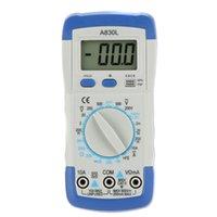 Wholesale DMM Digital Multimeter A830L Ammeter Voltmeter Megohmmeter Ohmmeter hFE Current Tester w LCD Backlight Ammeter Multitester