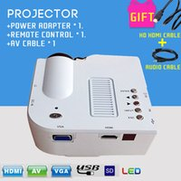 av digital - Hottest uc28 Mini LED Theater Projector Multimedia Player Support HDMI VGA AV Small Portable Mini LED Data Projector White Cables