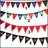 Wholesale 2015 superhero Avengers flag festival and party super hero superman spiderman batman captain American birthday flags J052801