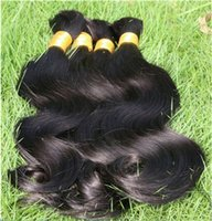 Natural Black Virgin Bulk Braiding Hair virgin hair bulk - Factory Outlet Authentic Unprocessed Brazilian Virgin Body Wave Hair Bulk One Single Donor Untreated Natural Remy Body Wave Bulk Hair