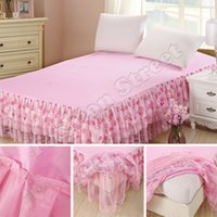 king size bedspreads - Bedding Sets Princess Lace Bed Skirts bedspread Mattress Cover Full Queen King size