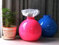 Wholesale Tissue Box Holder Home Round Shape Paper Pot Toilet Creative Bomb Paper Towels Paper Towel Tube Car Tissue Box Cover Holder For Car