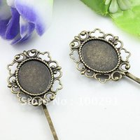bobby pins with pad - Antique Bronze Bobby Pin mm with x18mm Pad Jewelry Findings Accessories