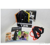 Cheap Fitness Video t25 14 dvds Shaun T Focus Fitness Tutorial T25 14 DVD Workout Alpha Beta Core With Resistance Band hottest Factory Sealed