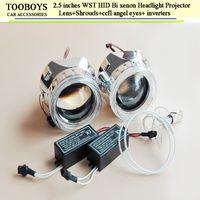 headlight projector lens - Automobiles car headlights hid projector lens inch mini hid bi xenon lens h1 bulb socket