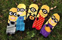Cheap Minion Socks Old Children Cartoon Socks 3D Socks 2015 New Women Cartoon Socks Three-dimensional Cartoon Minions Socks