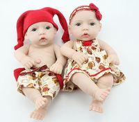Cheap 25cm boy girl reborn baby doll beauty clothes Bath toyTOP Quality cutesmall baby doll Full vinyl traning reborn doll