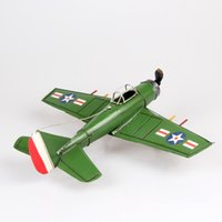 aircraft craft - Color retro classic cars model fighter aircraft metal furnishings decorative gift crafts MKA620