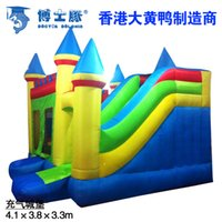 Wholesale Kids Inflatable Crayon Bounce House Moonwalk Jumper Bouncer Jump Bouncy Castle Sildes