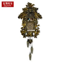 antique newspapers - 100 real picture Annabel wooden cuckoo clocks cuckoo clocks and light control music newspaper clock creative living room European style mu