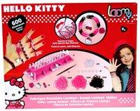 band bracelet maker - Hello kitty children weaving Loom Bracelet Maker Kit Education Learning Rubber band bracelet toy assorted color latex gift