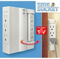side socket - New Hot Sell Set of Side Socket Outlet Surge Protector Swiveling Electrical Power Strip Side Socket LJJD1663