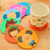 bamboo manufacture - Cartoon Silicone Manufacturing Cup Mat Coffee Cup Coaster Mat Insulation Pad