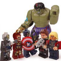 avenger kit - DHL Marvel Avenger Iron Man Thor Hulk Minifigures LELE Model Kit Building Block Kids Decool Toys