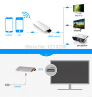 Wholesale 1set Wifi Display Dongle HDMI TO VGA converter DLNA WIDI airplay Wireless Share Push Receiver Adapter For ios Android