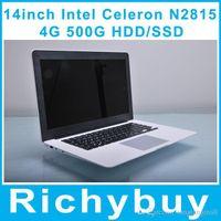 Wholesale inch Laptop Gaming notebook Intel Celeron N2840 Ghz Dual Core Ultrabook GB GB HDD SSD muli language