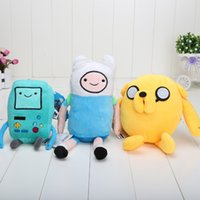 adventure comics - 3pcs quot style Cartoon Toy Anime Adventure Time Finn And Jake Beemo BMO Plush Doll classic toys Best Toy