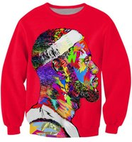 Wholesale FG1509 women mens fashion tie dye hoodie pullovers character lebron james d sweatshirt graphic crewneck sweatshirts sportswear
