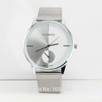 analog supply - The supply of new steel table surface mesh belt small second hand fashion watches for men and women personality quartz watch