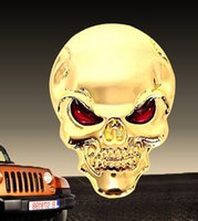 awesome car stickers - Car D Awesome Skull All Metal Auto Truck Motorcycle Emblem Badge Sticker Decal Trimming Laptop Notebook Ipad Phone Trim Self Adhesive