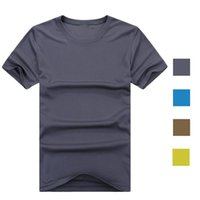 Wholesale SUMMER STYLE Outdoor Hiking Men Sportwear Quick Dry T Shirts Cool Camping Running Sport Tees Slim Short Sleeve Tops Size Color