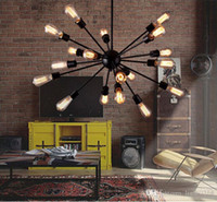 art iron works - Satellite Chandeliers Vintage Wrought Iron Pendant Light Spherical Spider Lamp Edison Pendant Lighting Pendant Lamps Droplight A4