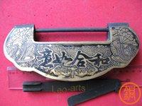 Wholesale Large lock Chinese home copper fittings Vintage Copper Lock wishful lock full brass padlock marriage cm