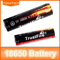 Wholesale 2 mAh Rechargeable Li ion Battery V TrustFire PCB Protected For Flashlight Torch Brand New