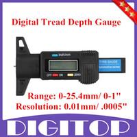 Wholesale New Car Tyre Digital Tread Brake Pad Shoe Gauge Depth Tester Guage Black mm quot