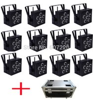 Wholesale 12PCS with flighcase Wireless Battery Powered LED Par Light RGBWA UV in1 Color Dj Wash Light DJ Lights hot