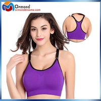 active ups - Anti vibration sport bras high elasticity seamless wire free push up sport bra top for Gym