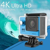 Wholesale Gopro Style WiFi Ultra HD K Action Camera H9 inch Screen MP HD1080P fps Mini Sport Camcorder w degree Fish eye Lens JBD H9