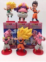 Wholesale Dragon ball z Super Saiyan Goku Buu pvc Figure Toy Set New In Box