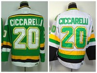 Wholesale Cheap Dino Ciccarelli Jersey Minnesota North Stars Dallas Stars Throwback CCM Green White Vintage Stitched Hockey Jerseys