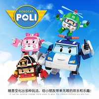 Wholesale Hot sale Set Robocar Poli Toy Korea Q version Robot Car Transformation Toys Poli Robocar Toys Best Gifts For Kids