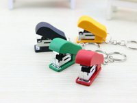 Wholesale Creative gifts key chain toy super small mini stapler stapler stationery gifts