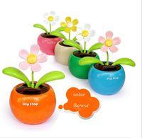 Wholesale Swing Solar Flower Magic Cute Flip Flap Swing Solar Flower Solar Plant Swing Solar